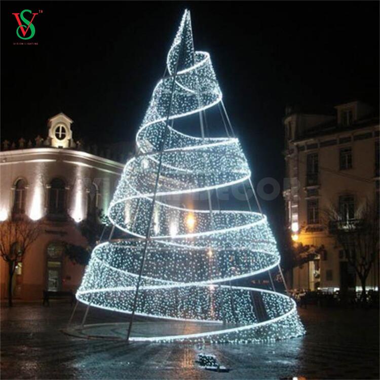 3D Motif Spiral Tree Lights