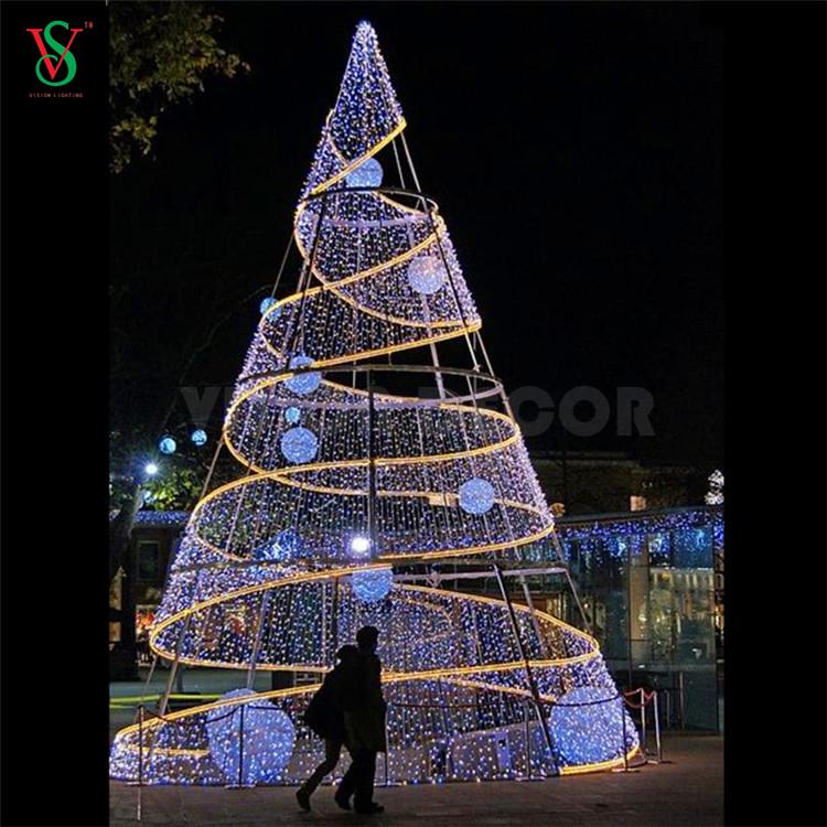 LED Christmas Spiral Tree