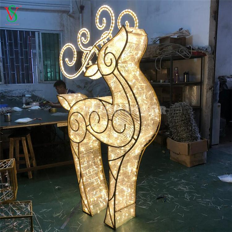 Illuminated 3D Giant Acrylic Reindeer