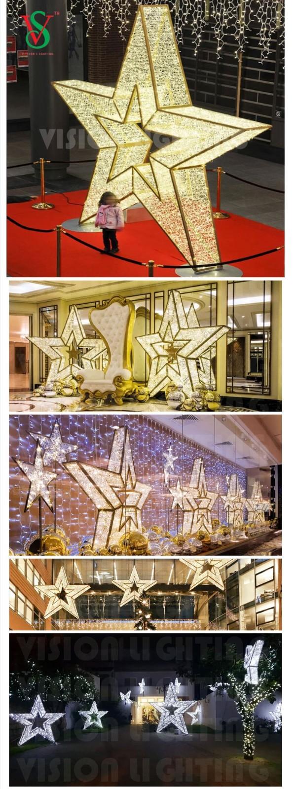 Christmas Shopping Mall Displays Decorative Illuminated Motif Malacca Lights