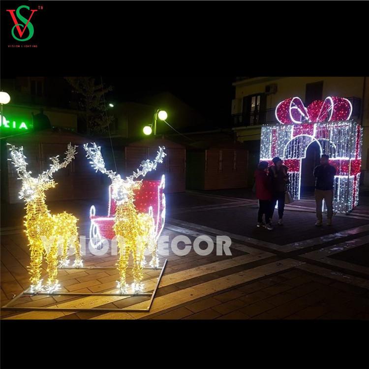 3D Gift Motif Lights