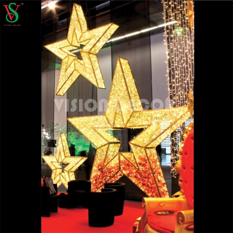 Christmas Decorations Illuminated 3D Star
