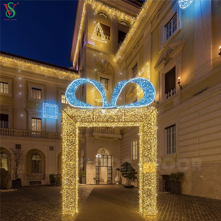 LED Decoration Arch Lights with Bow