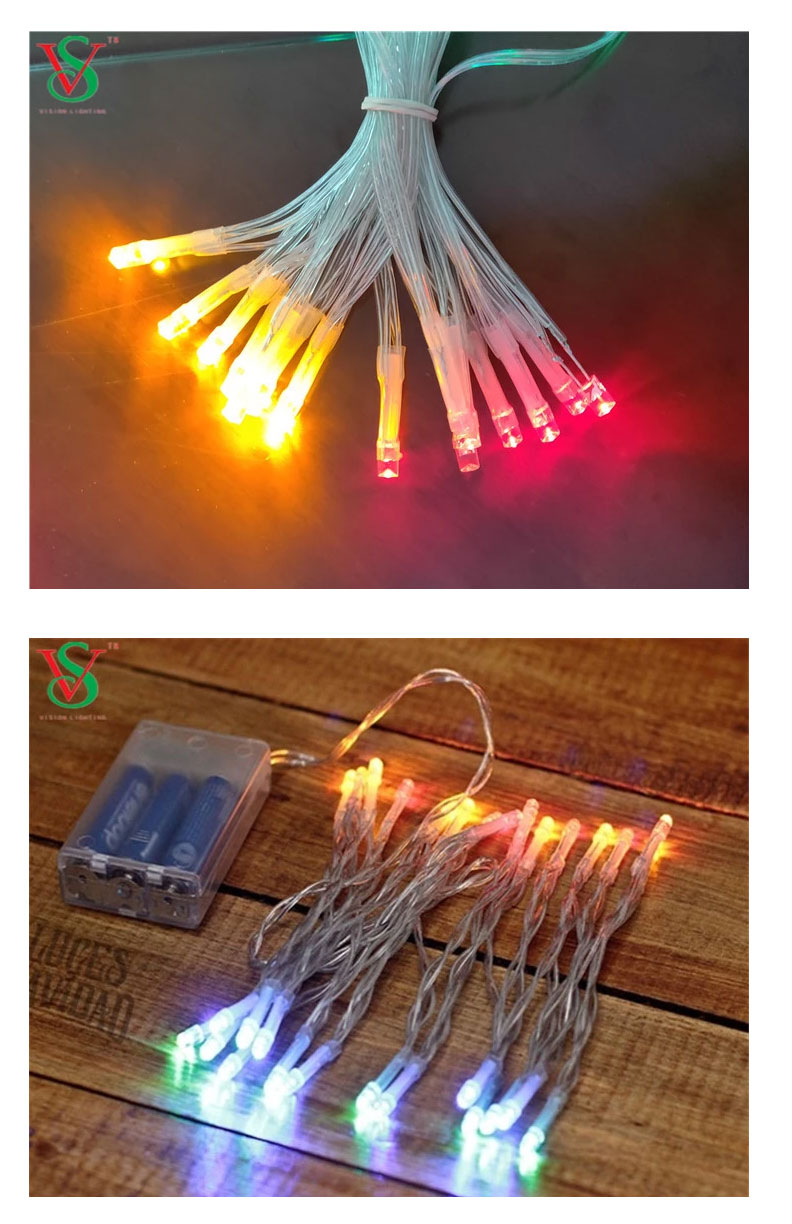 Flashing led string light with battery box
