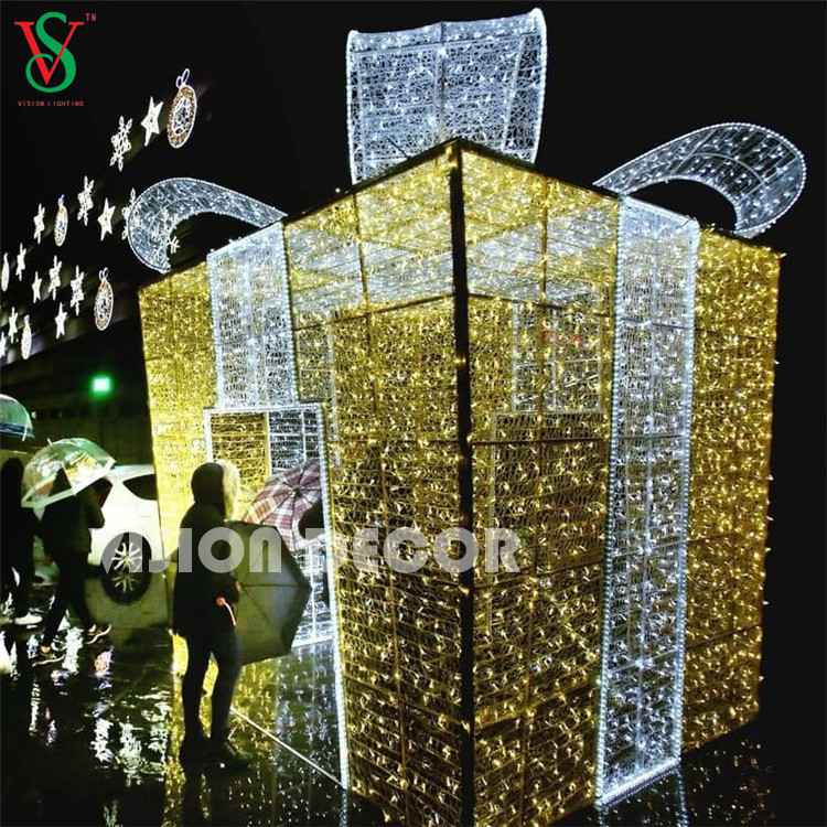 Outdoor Large Gift Box Lights