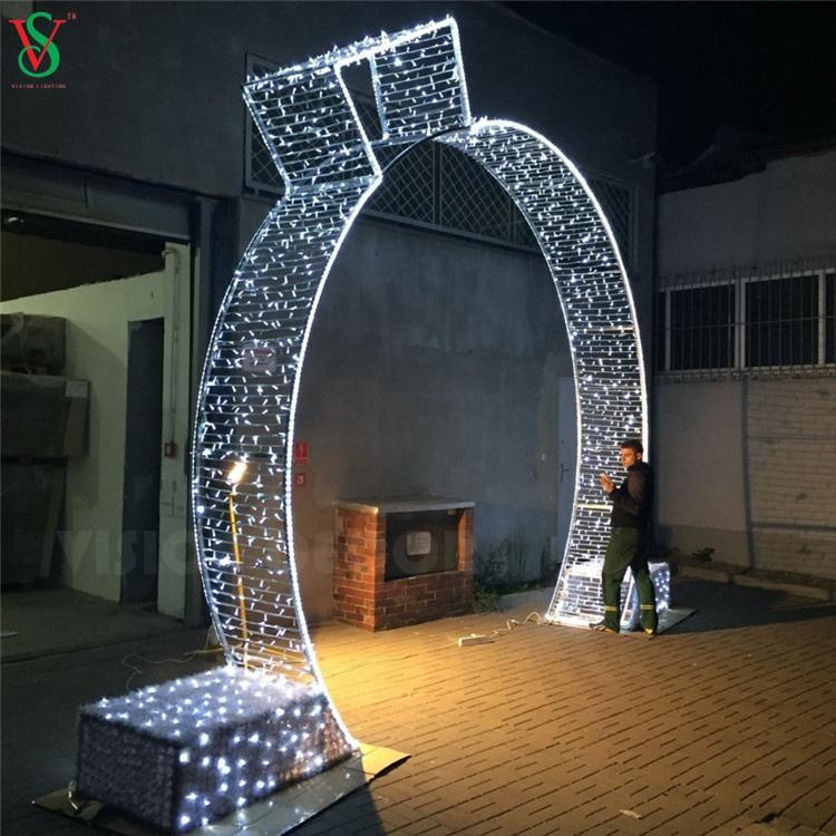 Christmas Street Decorative Arch LED