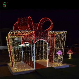 3D Gift Box Motif Lights