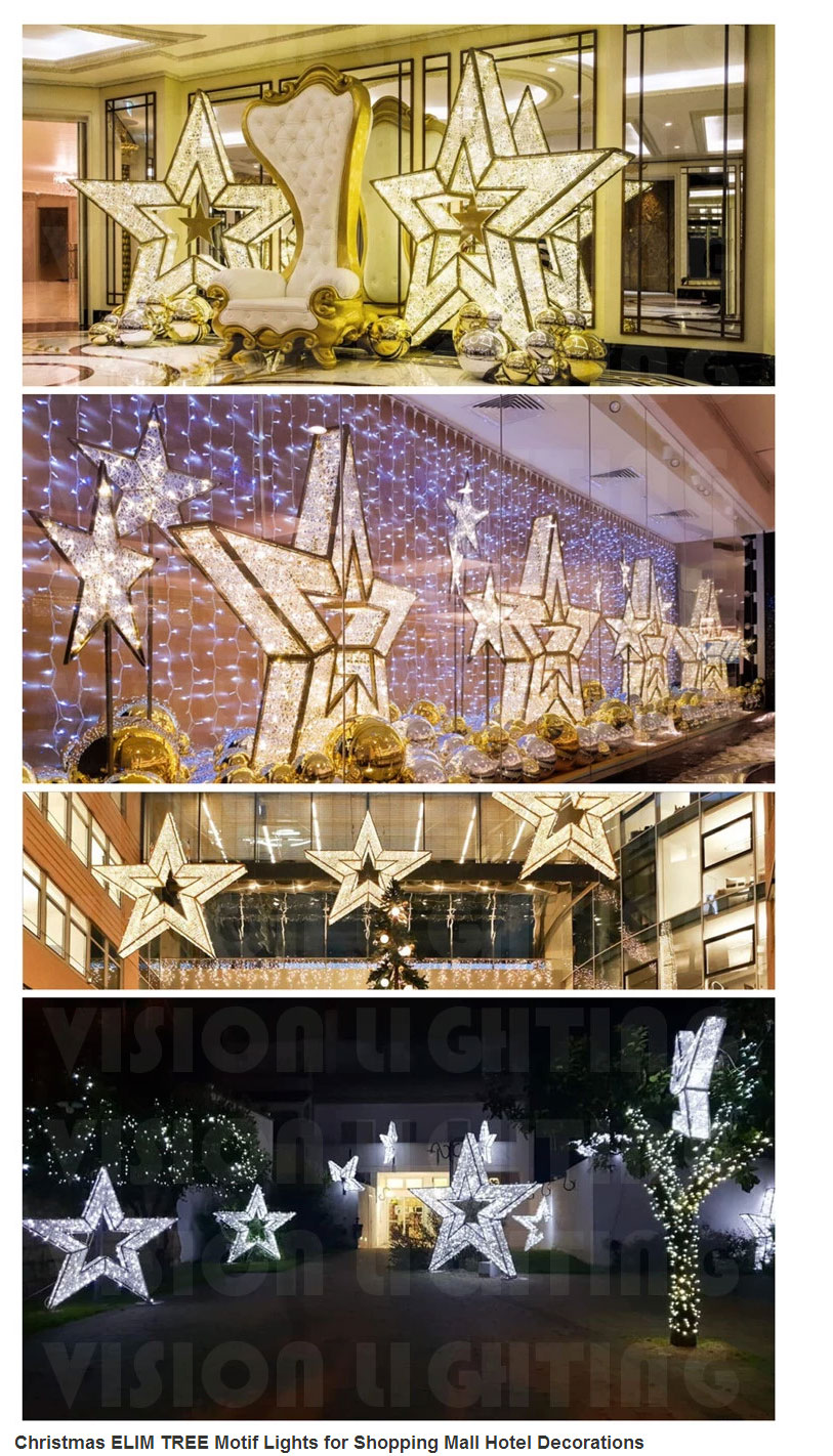 Christmas ELIM TREE Motif Lights for Shopping Mall Hotel Decorations