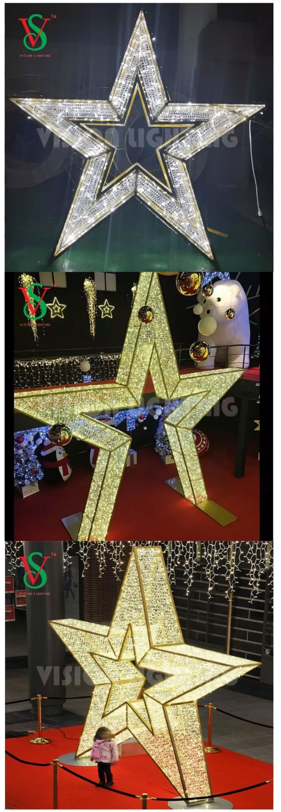 2D Christmas Giftbox Motif Lights for Shopping Mall Building Facade Decorations