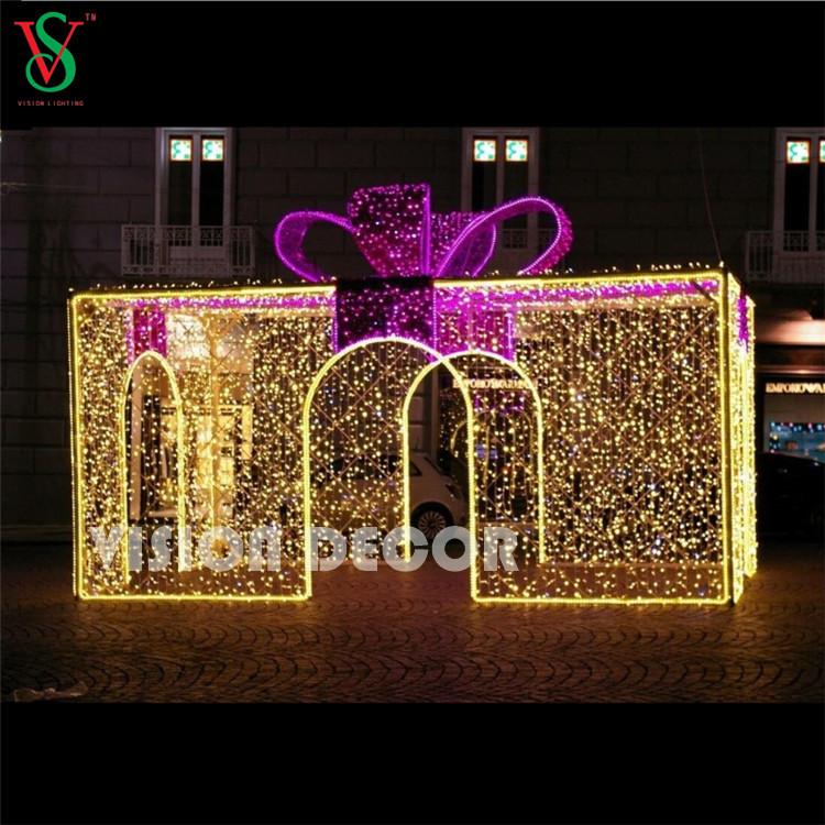 Large 3D Gift Box Lights