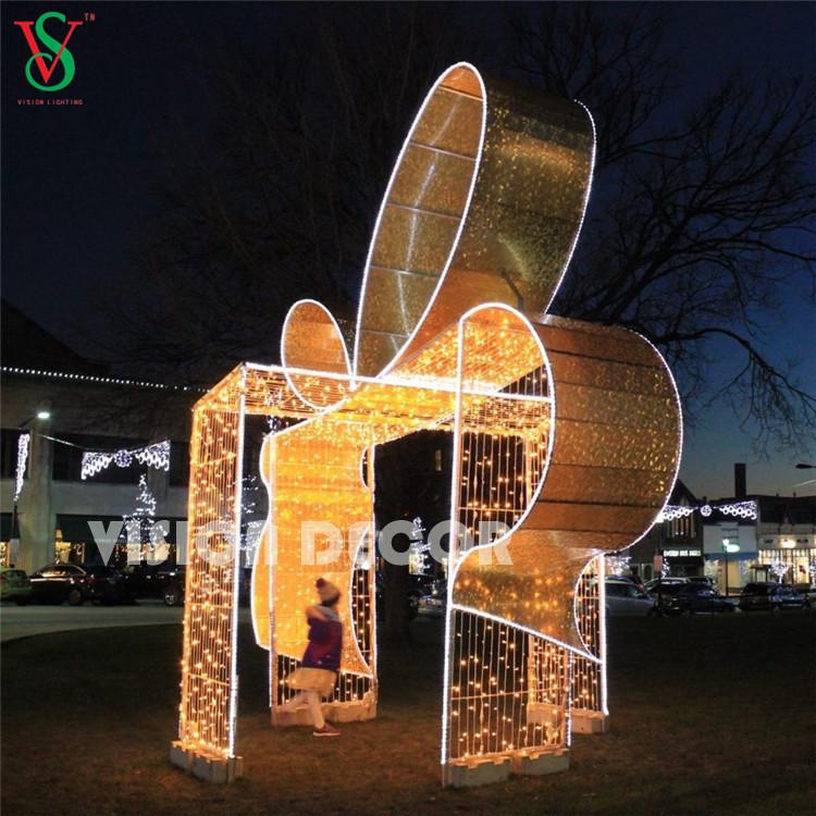 Golden Gift Box Lights