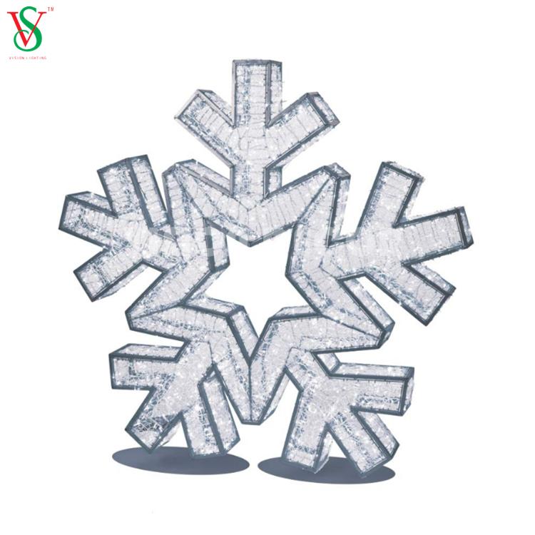 Illuminated 3D Snowflake