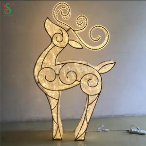 Christmas Decorations 3D Reindeer Sculpture