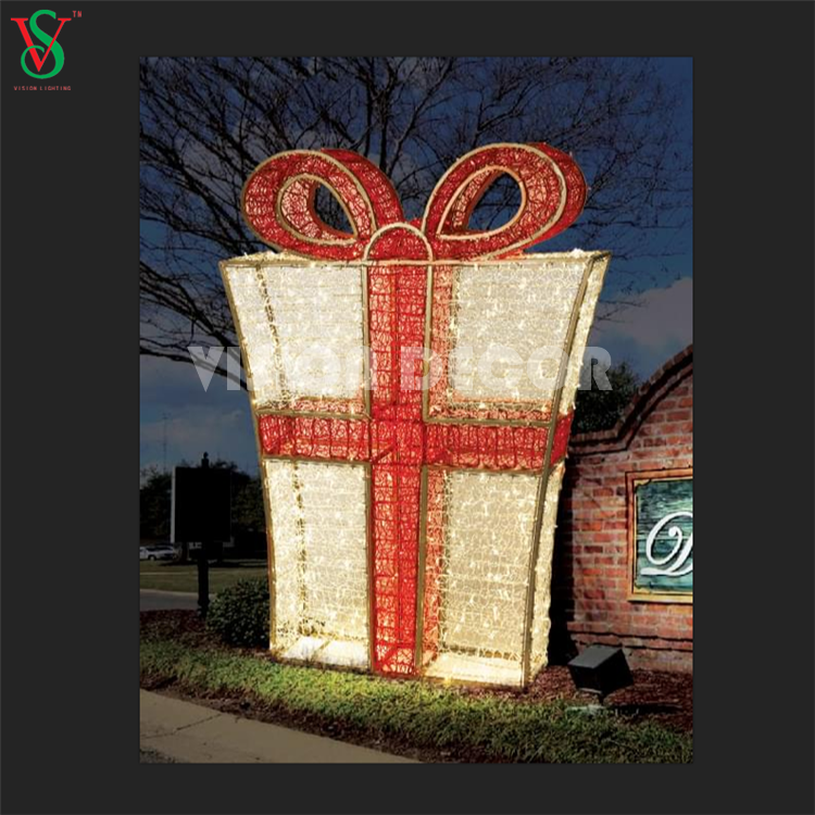 3D Present Gift Box Motif Lights