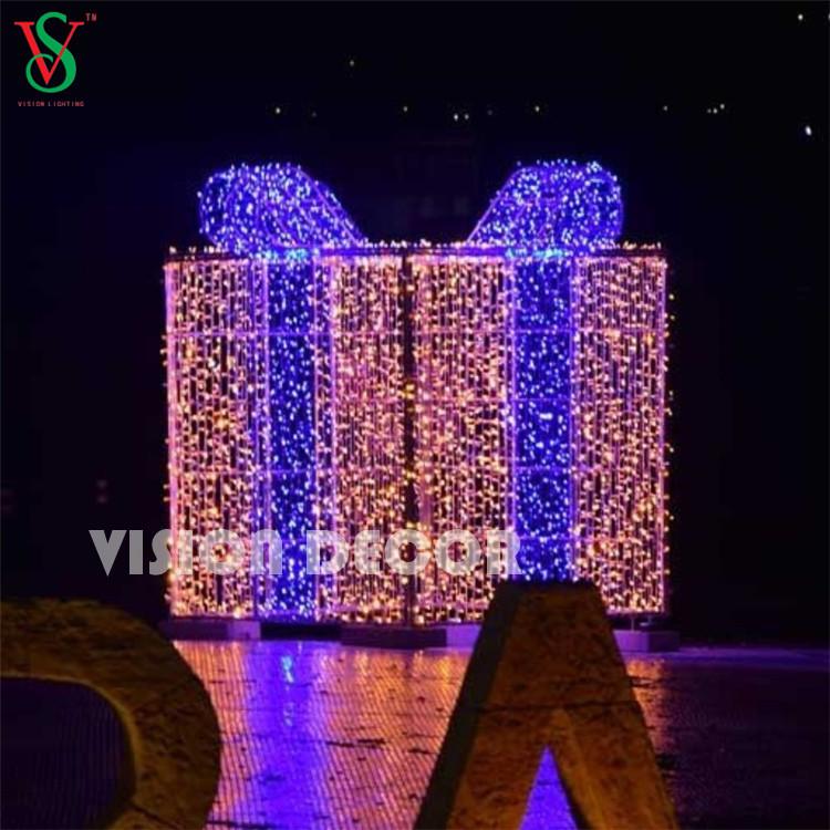 3D Customized Gift Box Motif Lights