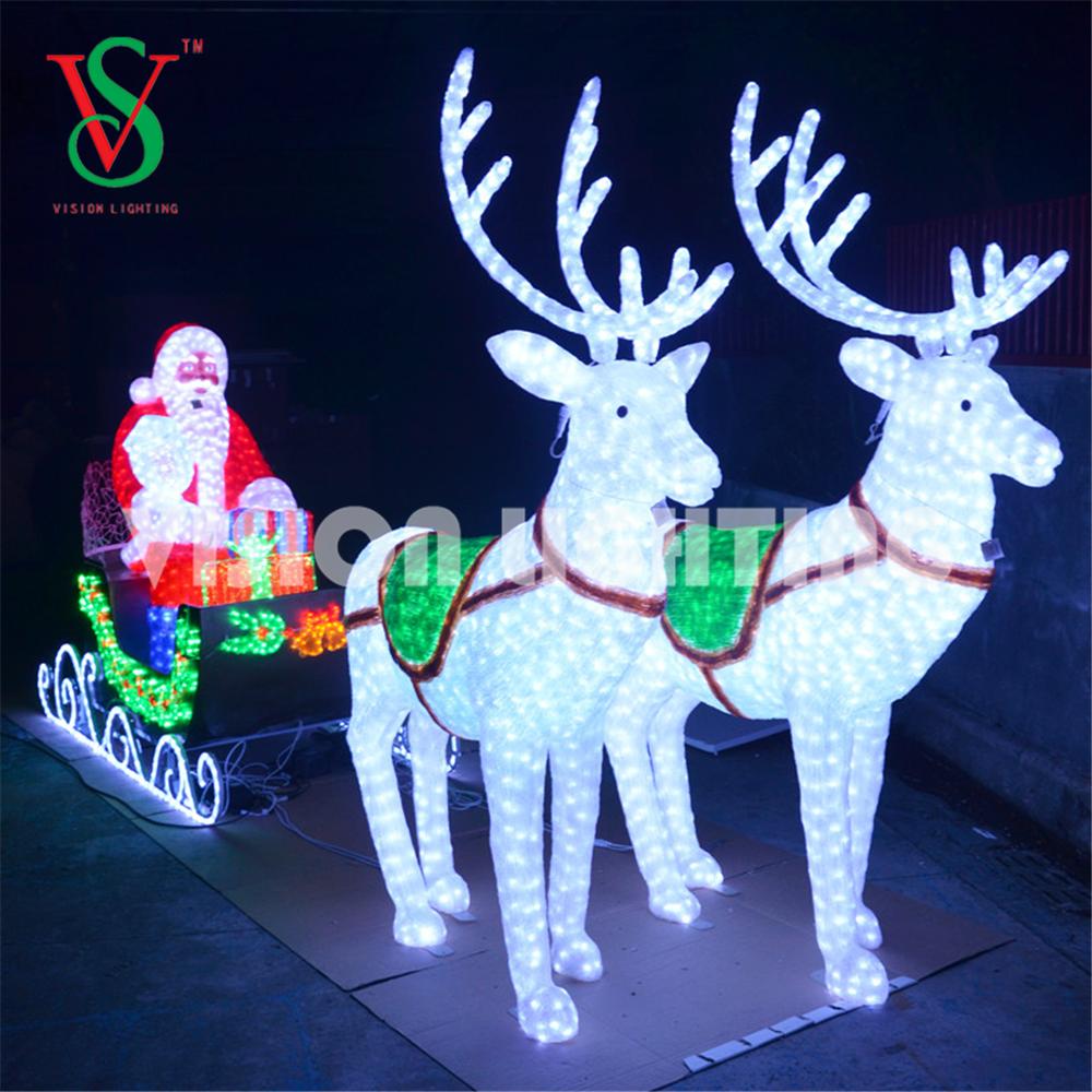 LED Santa Sleigh Light