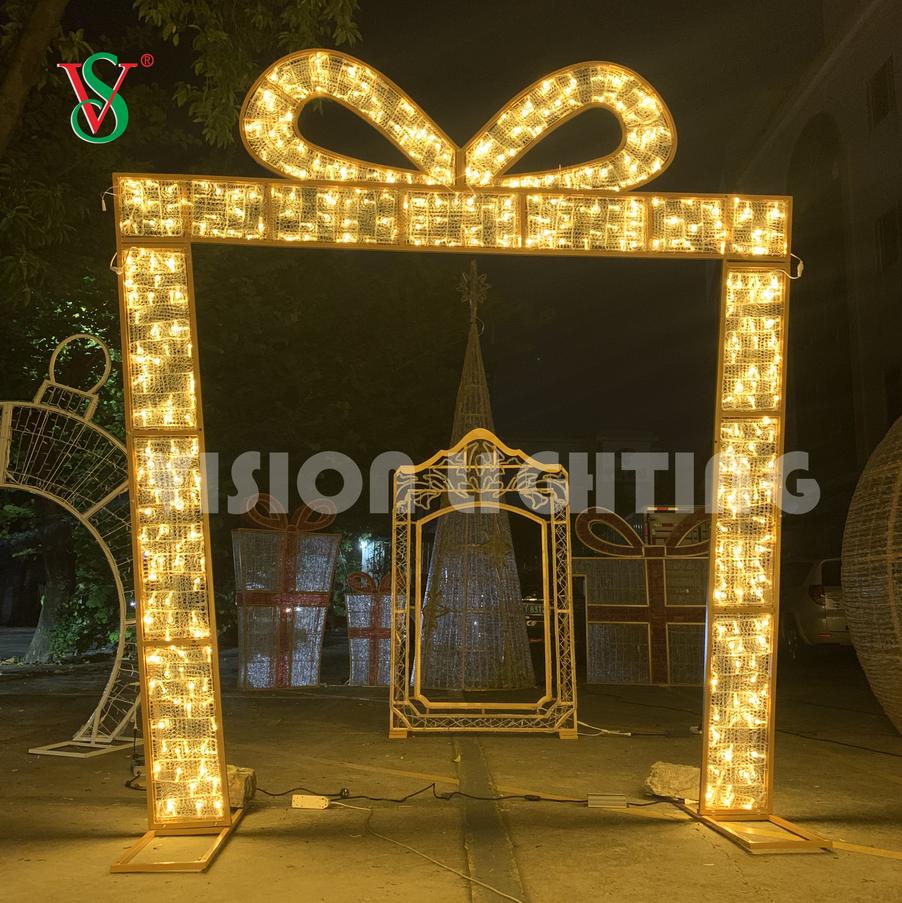 Festival LED Decorative Lights Christmas Ornaments 3D Sculpture Holiday String Lighting