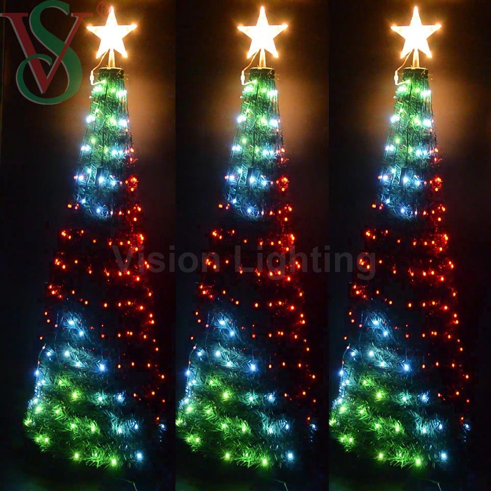 DMX Luz de Arbol de Navidad Animada Inteligente LED de Control Remoto