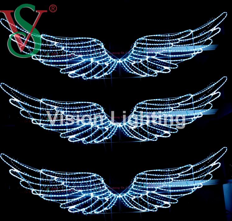 Hanging Decorative Christmas Lights Dmx512 Smart Angel's Wings for Indoor Outdoor Decoration