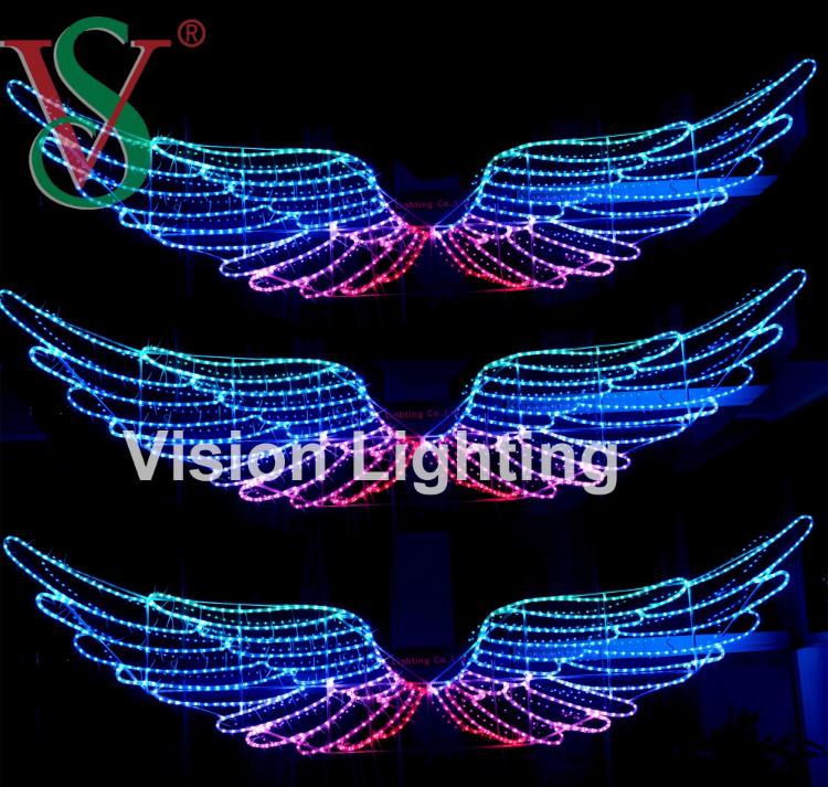Decoración Navideña IP65 Alta Calidad LED DMX512 Luz de Ala Inteligente para Uso en Exteriores