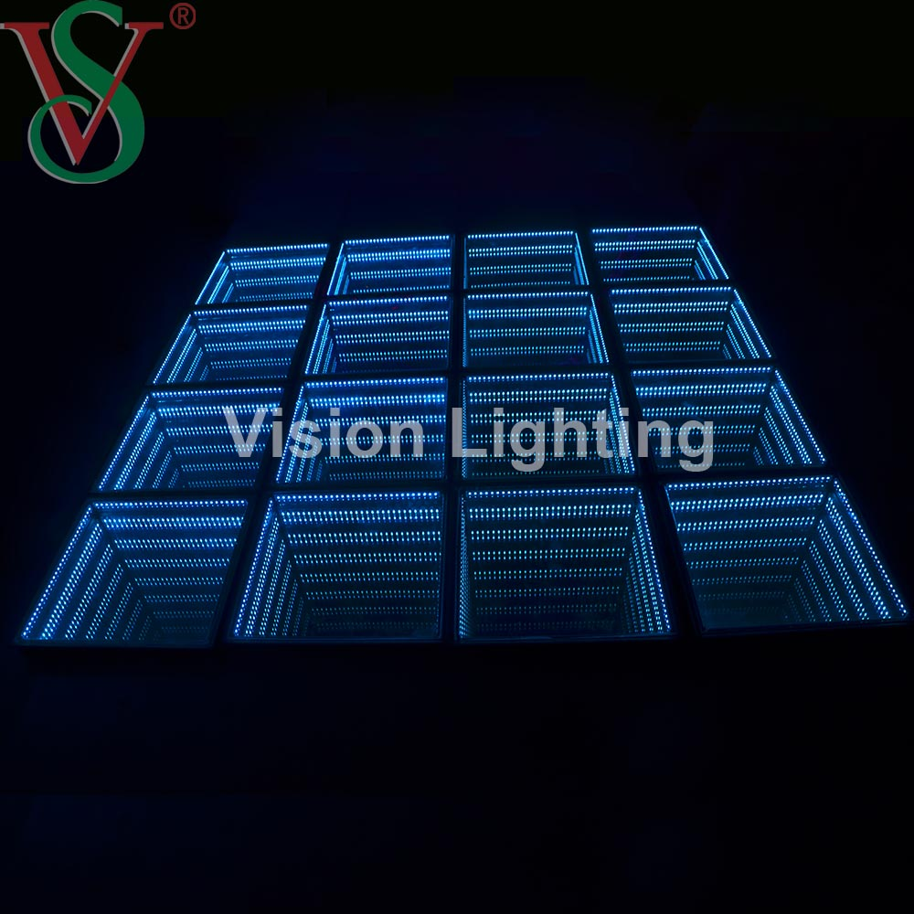 RGB DMX Interactive Dancing Floor Tile Ground Light Abyss Shaped Color Changing Programmable Project