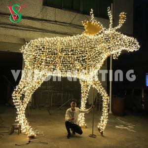 String Light Lion Horse Bull Elephant Giraffe Deer Sculpture 3D Lighted Animal for Outdoor Decoration