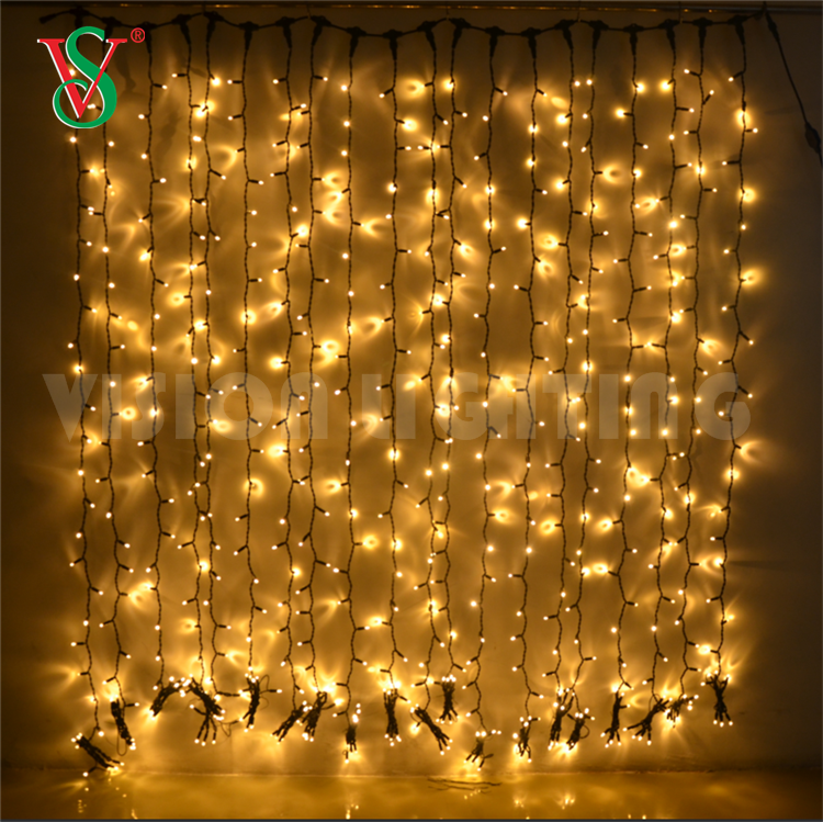 Factory price outdoor color changing led window decorative curtain string lights for Christmas wedding