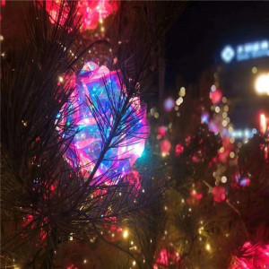 Nuevo diseno brillante color PVC esferico redondo bola pieza luz boda para centro comercial fiesta decoracion colgante