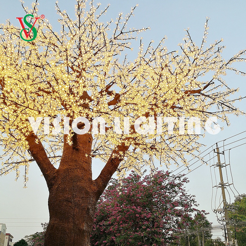 LED Lighted Cherry Blossom Tree for Park Garden Christmas Holiday Outdoor Decoration