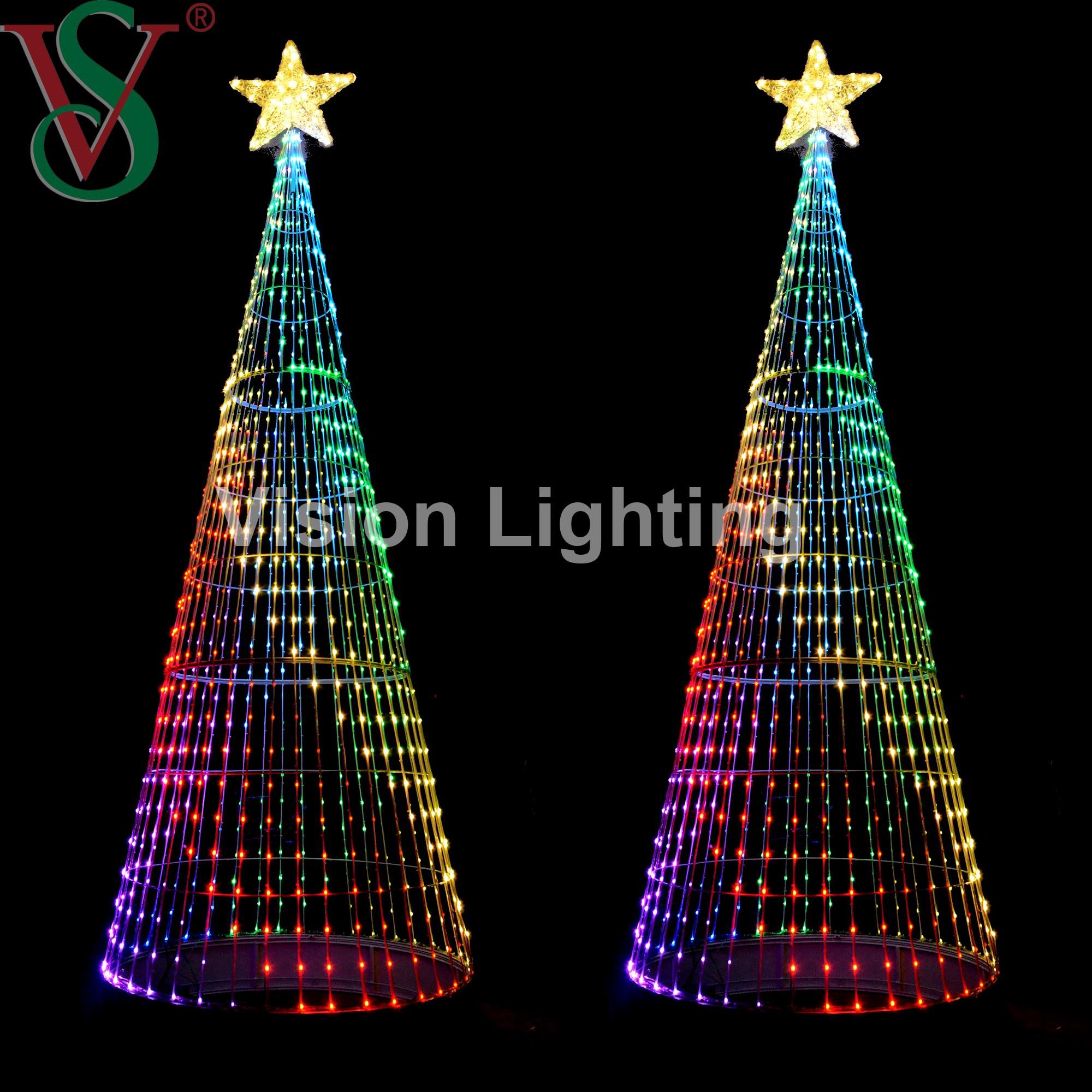 RGB DMX New Technique Smart Intelligent Programmable Christmas Cone Tree Light