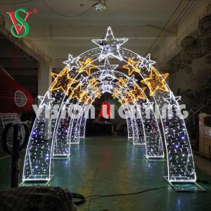 Decoraciones Navidad Impermeables al aire libre Luces Grandes Arco 3D LED Lampara