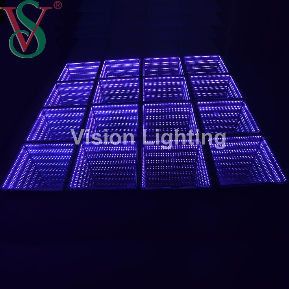Amusement Park Light Show Interactive Props LED DMX RGB Changeable Light Bricks Stepping Dancing Floor Tiles