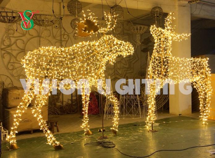LED Simulaciones Reales 3D Vaca Lampara Luces de Escultura Animal para Decoracion exterior