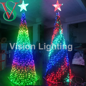 Festival Light IP65 waterproof High quality LED DMX RGB tree lights for Outdoor Decoration