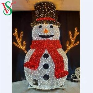 Outdoor New Design LED Christmas Decoration 3D Snowman Motif Xmas Lights