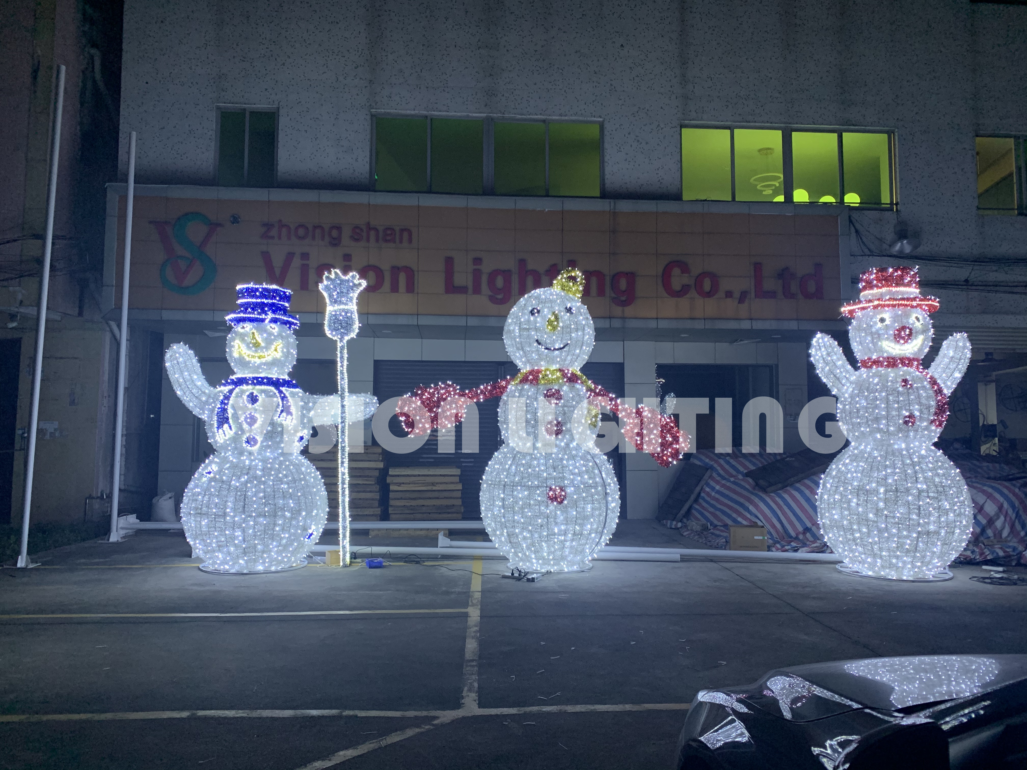 2021 New Outdoor LED Christmas Decoration 3D Motif Xmas Large Snowman Motif Lights