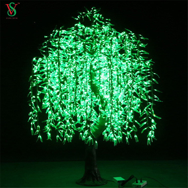 LED 3D Artificial Simulation Lighted Willow Tree Motif Light for Garden Landscape Outdoor Decoration