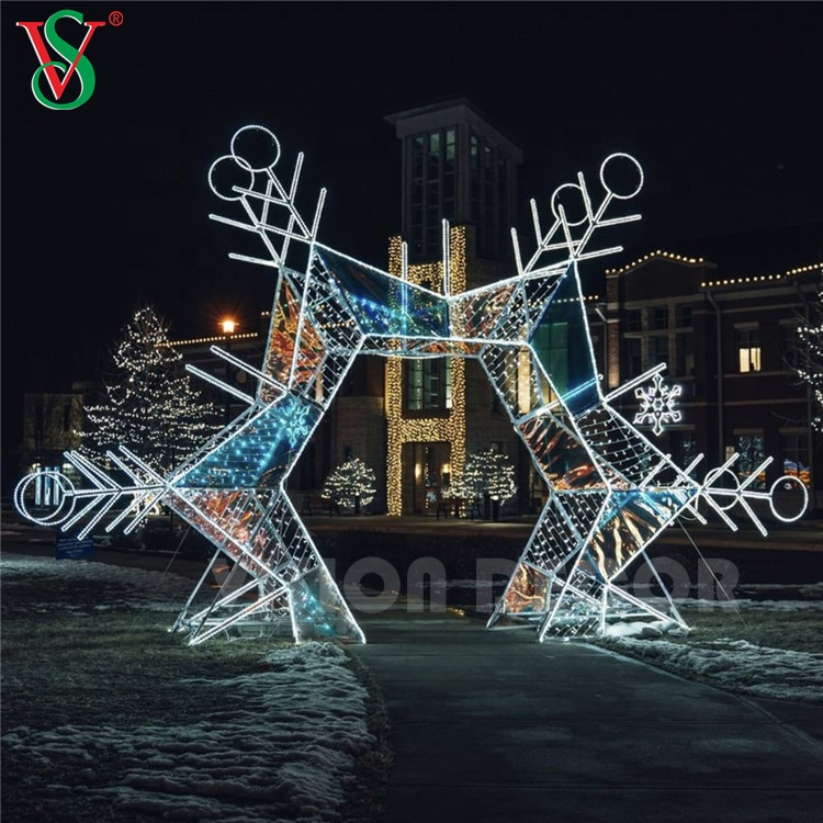 Christmas Large 3d Motif Lights LED Arch for Lighting Show in Park Garden or Square