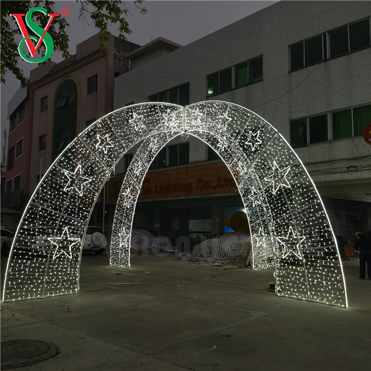 3D Outdoor Customized New Christmas Decoration Large Theme Arch Lighting