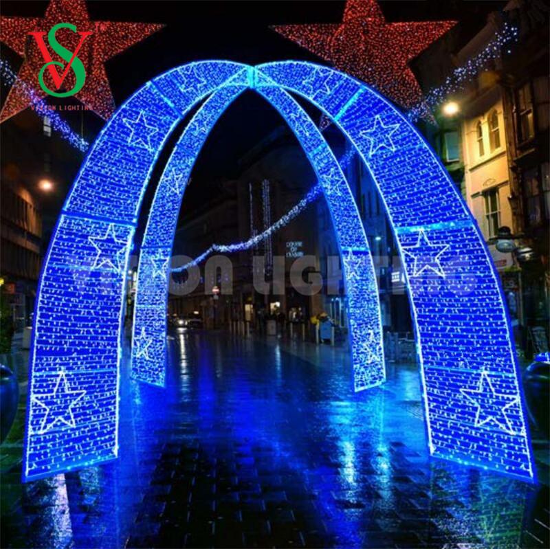 3D Led Proyecto Comercial Navidad Adornos Gigantes Acrilicos para Luces Decoracion de Arco