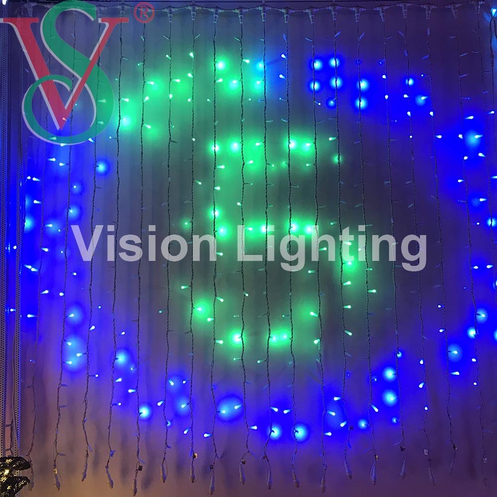 LED Smart Pixels RGB DMX string curtain lights for Outdoor Decoration