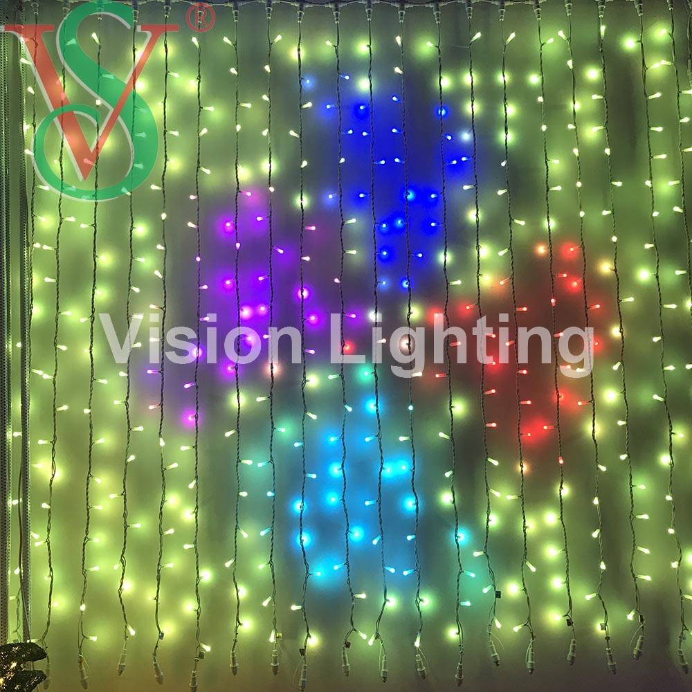 Full Color Programmable LED Smart Pixels RGB DMX Outdoor Decoration light
