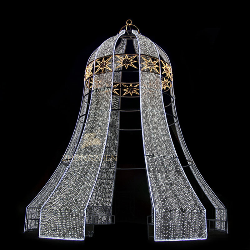 CE Outdoor 3D Christmas LED Motif Bell Decoration Light
