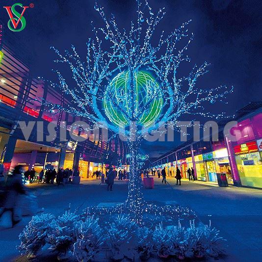 New 3D Motif Large Outdoor String Christmas Light Branch Tree Lights