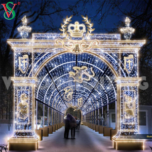 Outdoor Commercial Christmas Festival Decor Led Tunnel Arch Motif Light