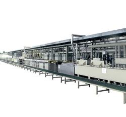 Electroplated brass production line fault and its treatment method