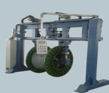 Fiber optic or wire pay off take up cable machine