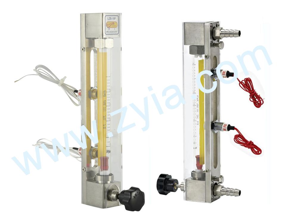 LZB glass  rotameter with alarm switch 3