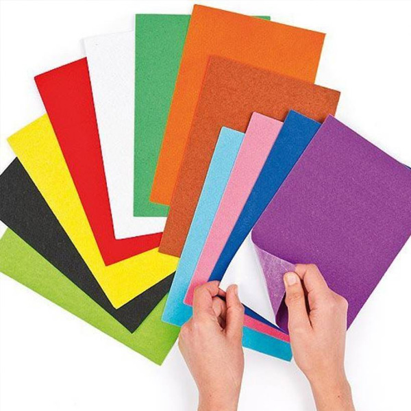 Top Quality Colorful 5mm Felt Self Adhesive Sheet