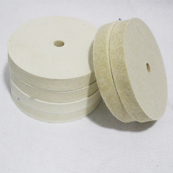 Factory-outlet 100% wool felt polishing disc /wheel with plastic backing